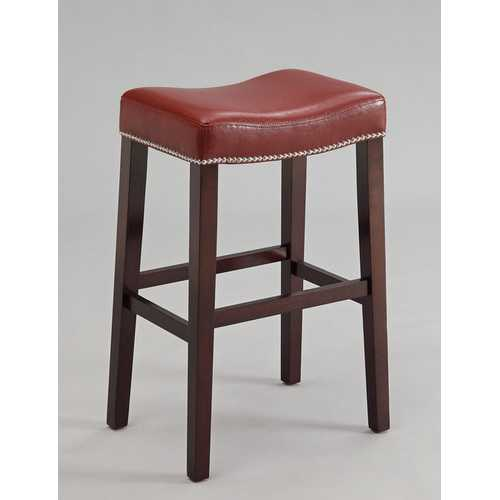 Bar Stool (Set-2), Red  & Espresso