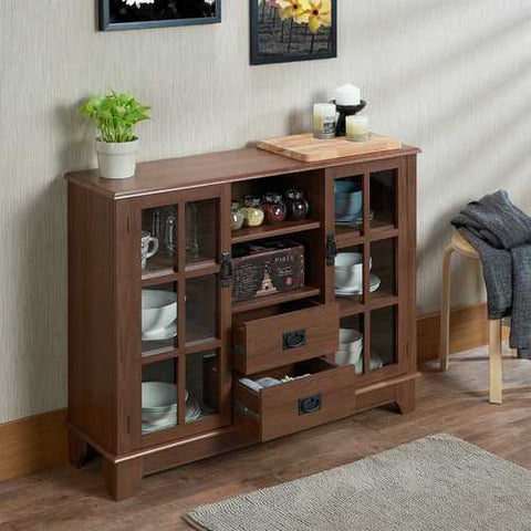 Cabinet In Walnut - Mdf, Particle Board, Glas Walnut