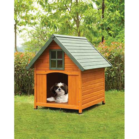 Pet House, Honey Oak & Green - Chinese Fir Wood, Pexigla Honey Oak & Green