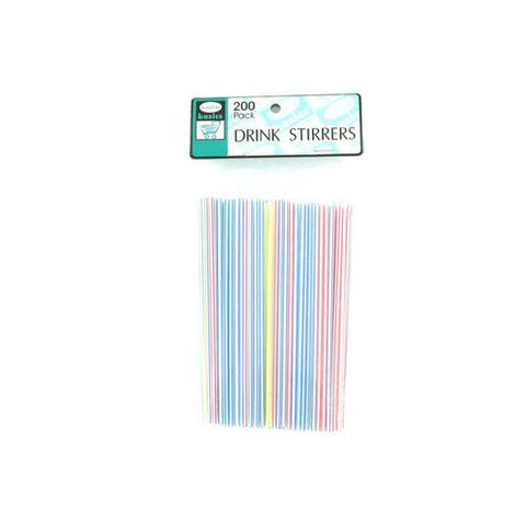 Multi-colored drink stirrers pack of 200 ( Case of 24 )