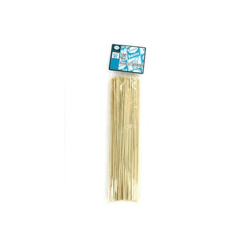 Bamboo skewers for barbecue or food pack of 100 ( Case of 48 )