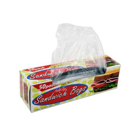 Fold-top sandwich bags ( Case of 72 )