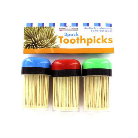 Toothpicks in Containers Set ( Case of 24 )
