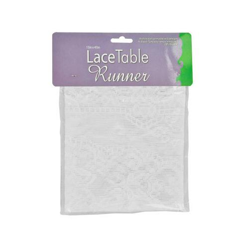 White Lace Table Runner ( Case of 12 )