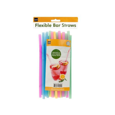 Flexible Bar Straws ( Case of 48 )