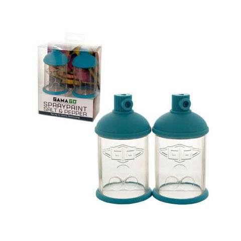 Spraypaint Can Salt & Pepper Shakers Set ( Case of 16 )