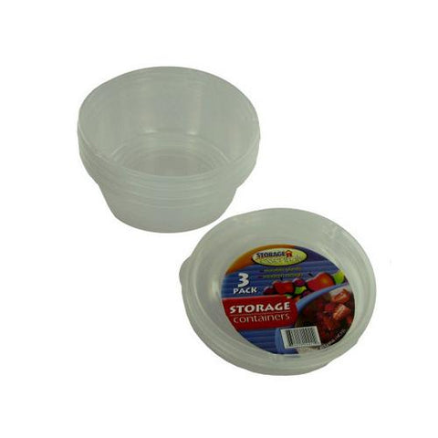 Round storage containers pack of 3 ( Case of 48 )