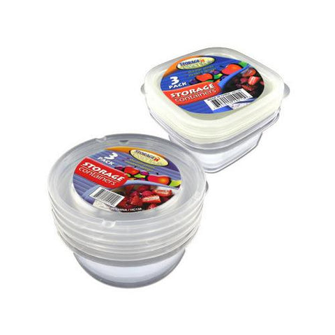Storage containers pack of 3 ( Case of 48 )