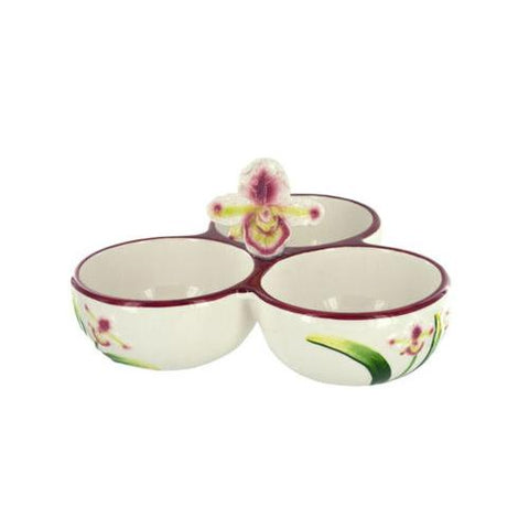 Orchid Ceramic Salsa Bowl Trio ( Case of 16 )
