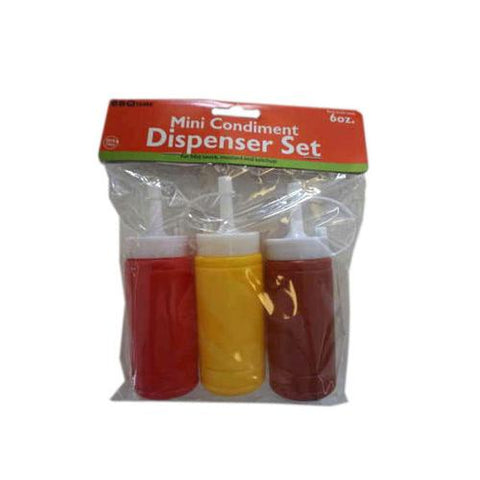 6 oz Mini Condiment Dispenser Set ( Case of 16 )