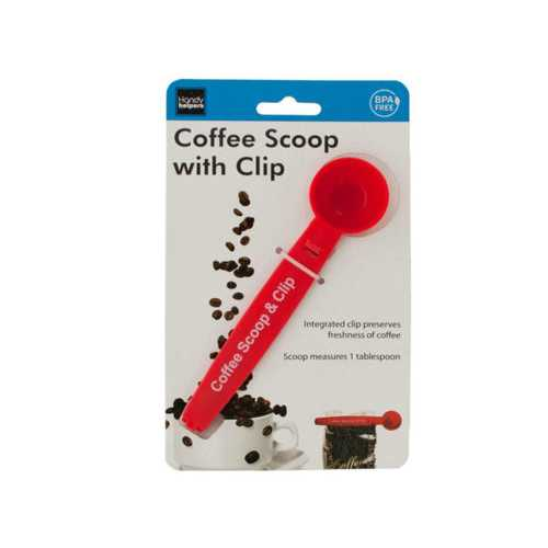Coffee Scoop with Bag Clip ( Case of 16 )