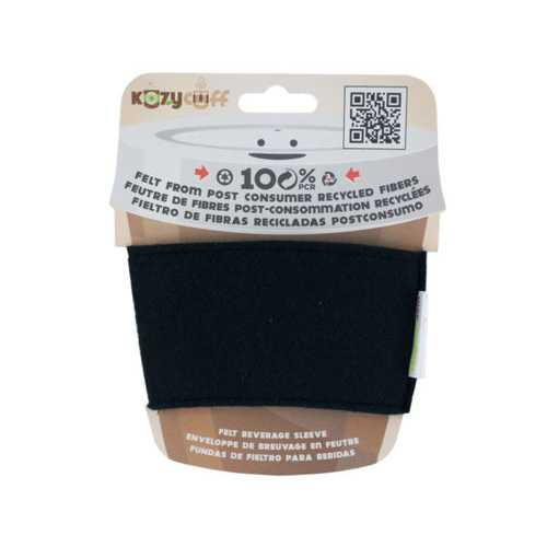 Black Kozy Cuff Felt Beverage Sleeve ( Case of 32 )