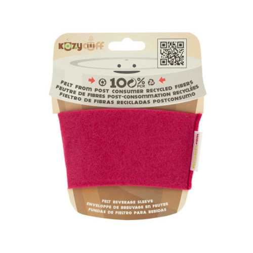 Fuchsia Kozy Cuff Felt Beverage Sleeve ( Case of 32 )