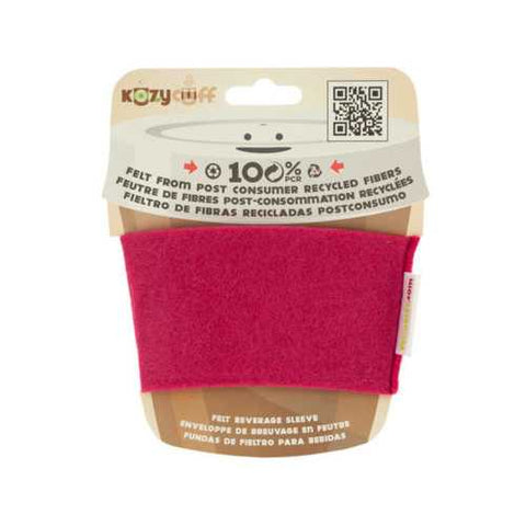 Fuchsia Kozy Cuff Felt Beverage Sleeve ( Case of 96 )