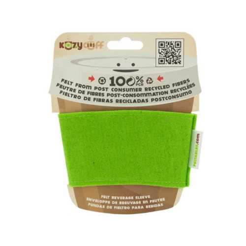 Lime Kozy Cuff Felt Beverage Sleeve ( Case of 64 )