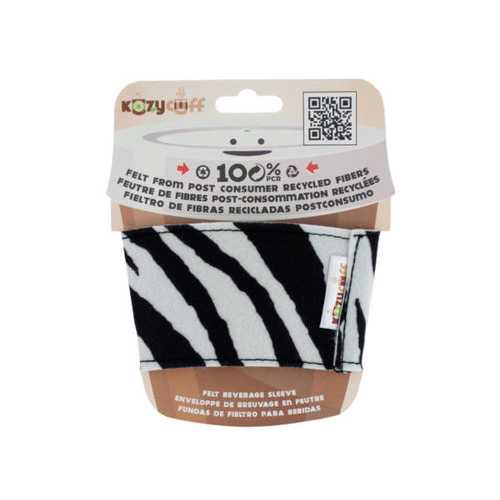 Zebra Kozy Cuff Felt Beverage Sleeve ( Case of 24 )