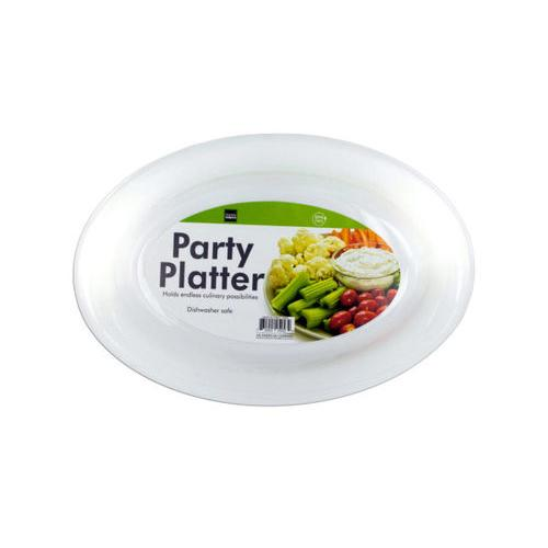 White Plastic Party Platter ( Case of 48 )