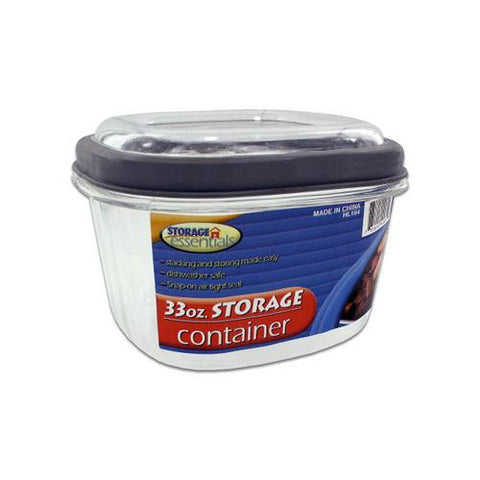 33 ounce square plastic container ( Case of 24 )