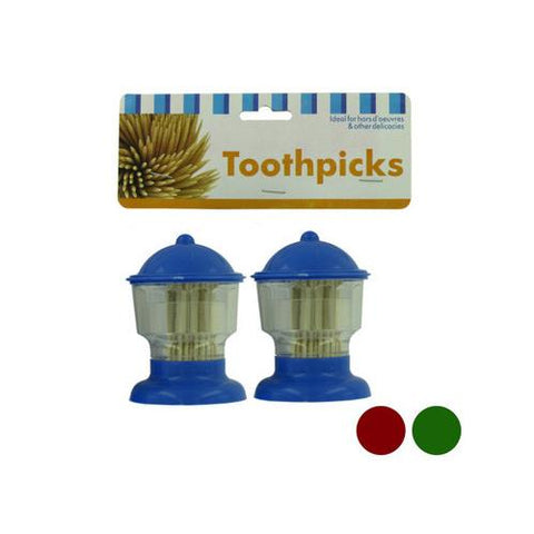 Toothpick dispensers assorted pack of 2 ( Case of 24 )