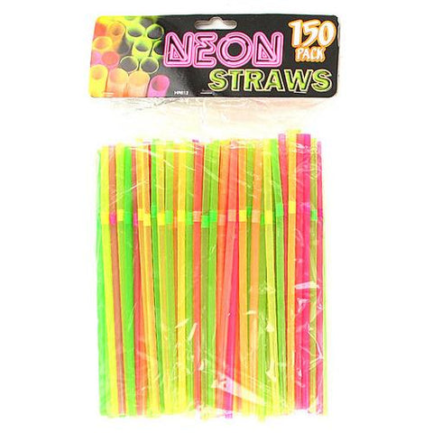 Flexible Neon Straws ( Case of 25 )