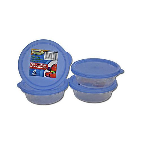 Round Plastic Storage Container Set ( Case of 24 )