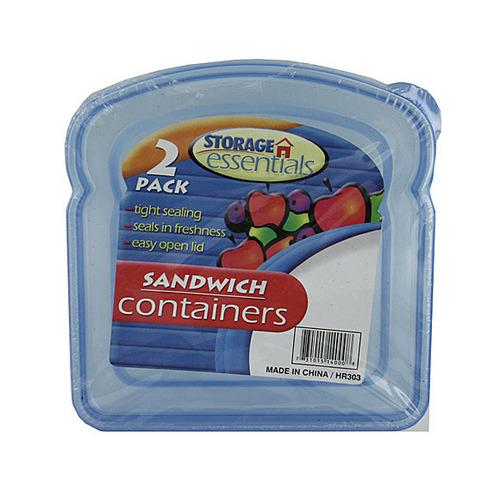 Sandwich Containers with Lids ( Case of 24 )