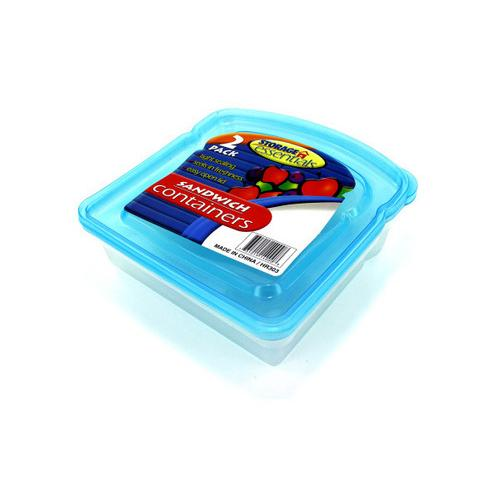Sandwich Containers with Lids ( Case of 96 )