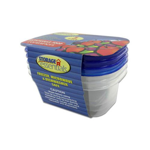 Rectangular Food Storage Containers with Lids ( Case of 48 )
