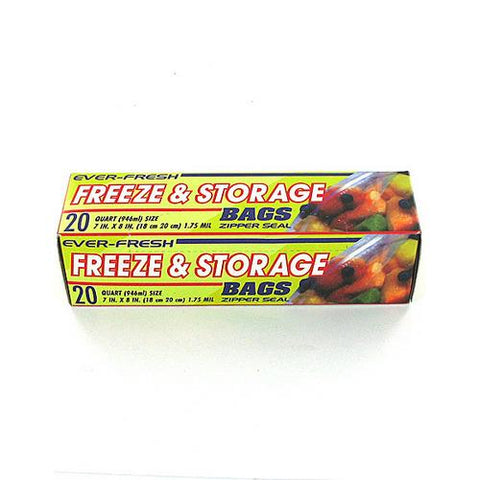 20 Pack freezer & storage bags ( Case of 24 )