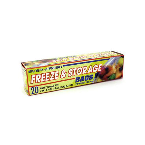 20 Pack freezer & storage bags ( Case of 72 )