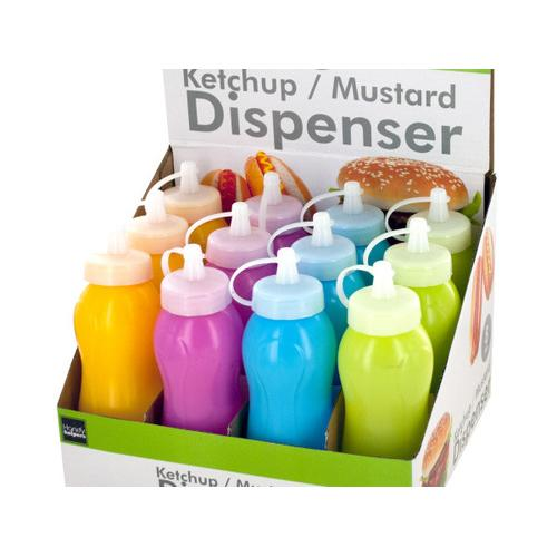 8 oz Ketchup & Mustard Dispenser Countertop Display ( Case of 24 )