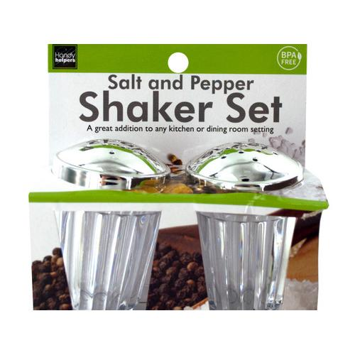 Crystal Look Salt & Pepper Shaker Set ( Case of 24 )