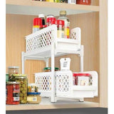 Jobar Two Tier Under Sink Sliding Shelf