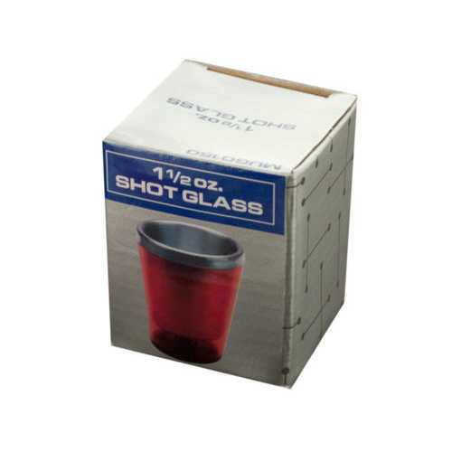 1 1/2 oz Red Double Wall Insulated Shot Glass ( Case of 48 )