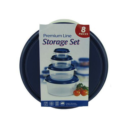 Round storage set  4 bowls and 4 lids ( Case of 4 )