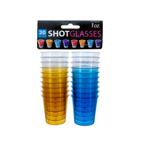 1 oz Clear Plastic Shot Glasses ( Case of 96 )