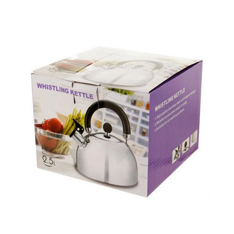 Whistling Stainless Steel Tea Kettle ( Case of 1 )
