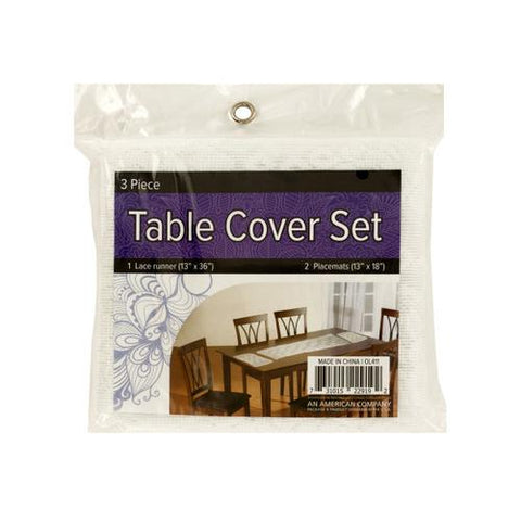 Lace Table Cover Set with Placemats ( Case of 16 )