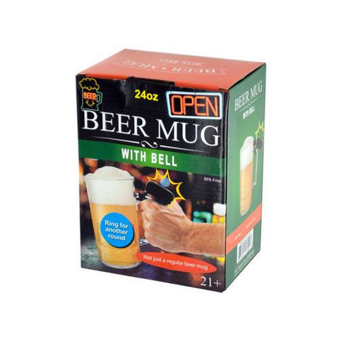 24 oz Novelty Beer Mug with Bell ( Case of 12 )