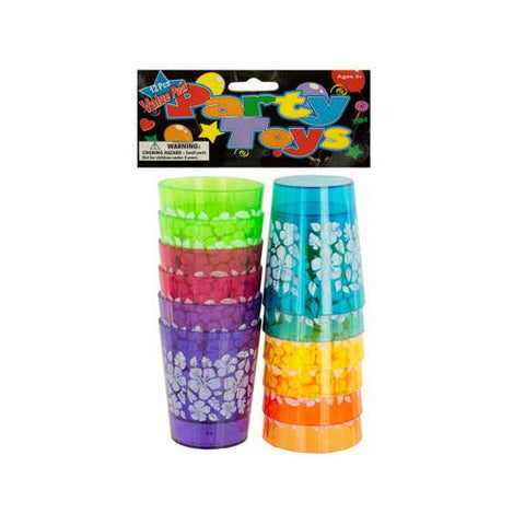 Hawaiian Floral Print Shot Glass Set ( Case of 48 )