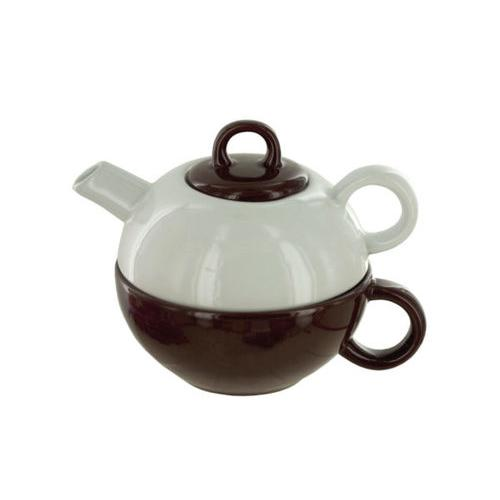 2 in 1 Ceramic Tea Pot & Cup Gift Set ( Case of 8 )