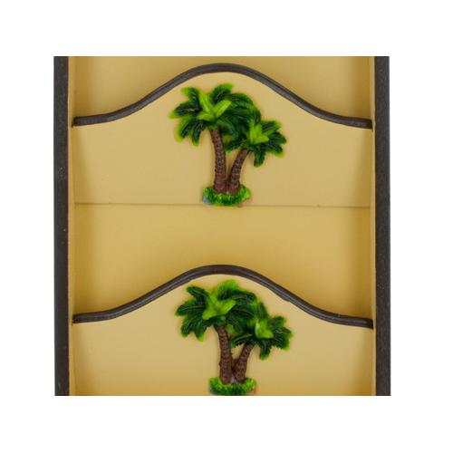 Palm Tree Key Cabinet with Letter Holder ( Case of 8 )