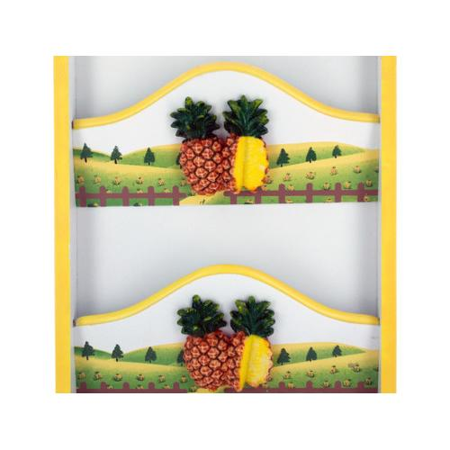 Pineapple Key Cabinet with Letter Holder ( Case of 4 )