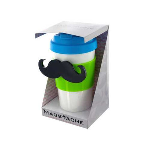Magstache Lime & Blue Magnetic Travel Mug ( Case of 36 )