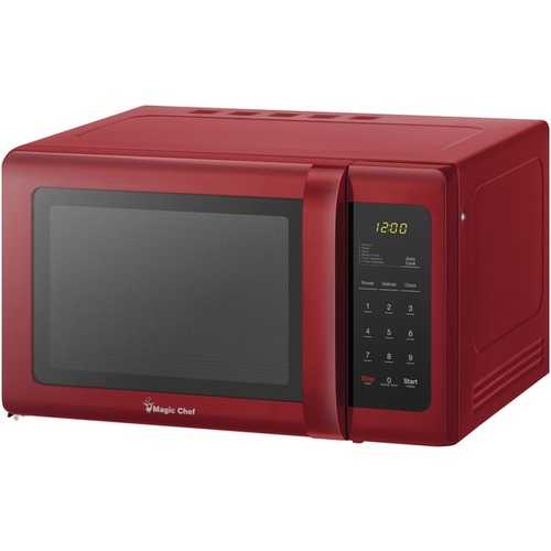 Magic Chef .9 Cubic-ft Countertop Microwave (red) (pack of 1 Ea)