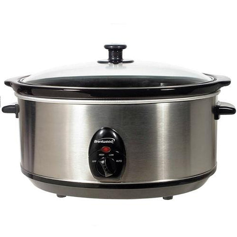 Brentwood 6.5 Quart Slow Cooker Stainless Steel