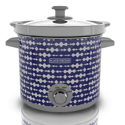 BD 4Qt Slow Cooker Blue Pulse