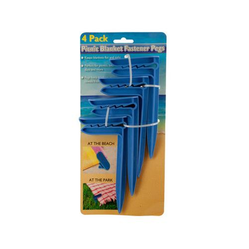 Picnic Blanket Fastener Pegs Set ( Case of 12 )