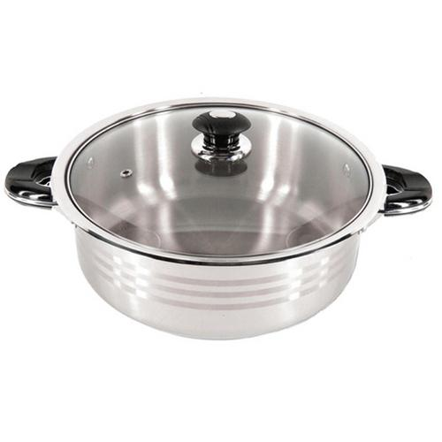 SuperX 10 Quart Stainless Steel Shallow Pot SXDF10