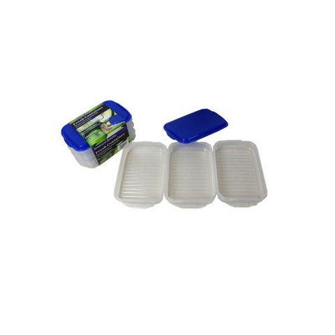 Plastic container set pack of 3 ( Case of 16 )